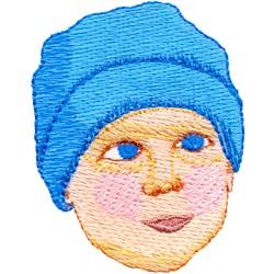 Boy Face embroidery design