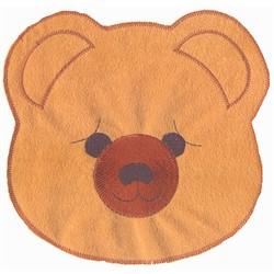 Applique Teddy Face embroidery design