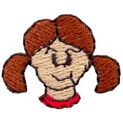 Girl Face embroidery design