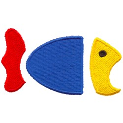Abstract Fish embroidery design