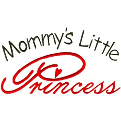 Mommys Little Princess embroidery design