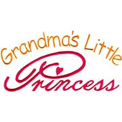 Grandmas Little Princess embroidery design