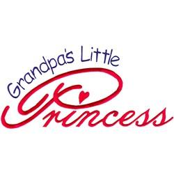 Grandpas Little Princess embroidery design