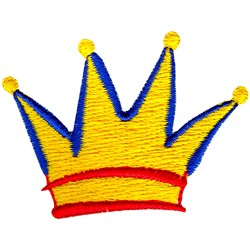 Abstract Crown embroidery design