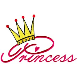 Princess with Crown embroidery design