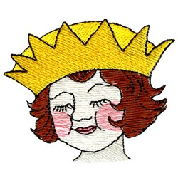 Princess Face embroidery design
