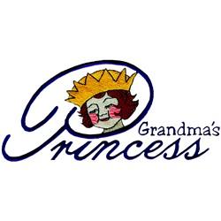 Grandmas Princess embroidery design