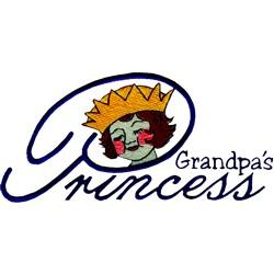Grandpas Princess embroidery design
