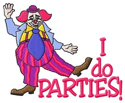 I Do Parties embroidery design