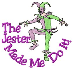Jester Do It embroidery design
