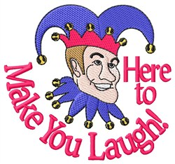 Make You Laugh embroidery design