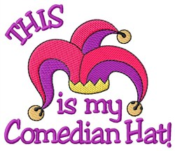 Comedian Hat embroidery design
