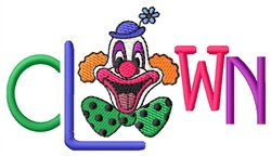 Clown Word embroidery design