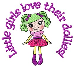 Little Girls Love embroidery design