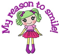 Reason embroidery design
