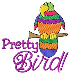 Pretty Bird embroidery design