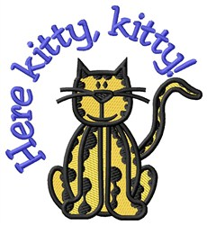 Here Kitty embroidery design