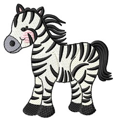 Stripped Zebra embroidery design