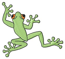 Climbing Frog embroidery design