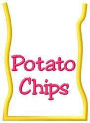 Potato Chip Bag embroidery design
