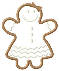 Gingerbread Girl embroidery design