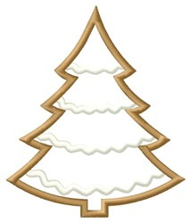 Christmas Tree Cookie embroidery design