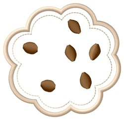 Chocolate Chip Cookie embroidery design