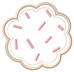 Sprinkles Cookie embroidery design