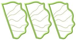 Lettuce Leaf Outlines embroidery design