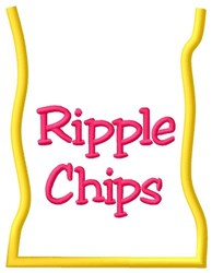 Ripple Chip Bag embroidery design