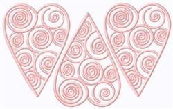 Heart Swirl Cookies embroidery design