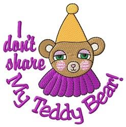 My Teddy Bear! embroidery design