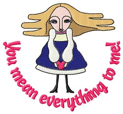 Youre My Everything embroidery design