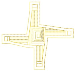 St. Brigids Cross Fill embroidery design