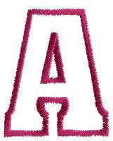 Chub A embroidery design