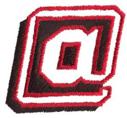 Club 2 At Sign embroidery design