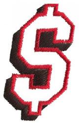 Club 2 Dollar Sign embroidery design