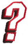 Club 2 Question Mark embroidery design