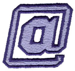 Club 3 At Sign embroidery design