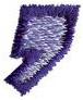 Club 3 Comma embroidery design