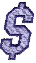 Club 3 Dollar Sign embroidery design