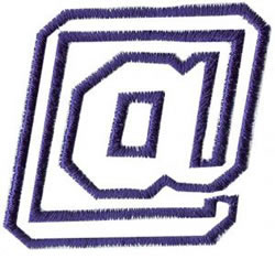 Club 4 At Sign embroidery design