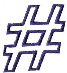 Club 4 Number Sign embroidery design