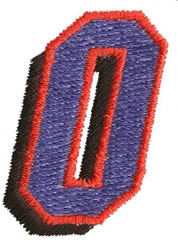 Club 0 embroidery design