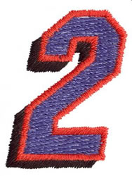 Club 2 embroidery design