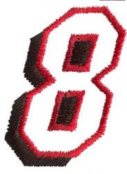 Club 8 embroidery design