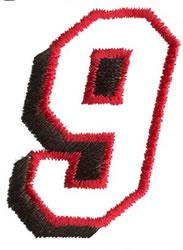 Club 9 embroidery design