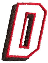 Club D embroidery design