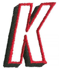 Club K embroidery design