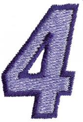 Club 3 4 embroidery design